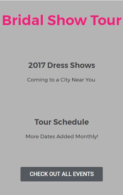buy a dress at our national tour