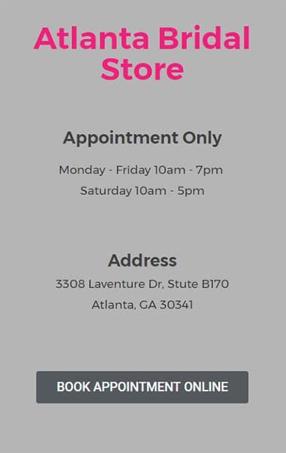 Buy a dress at Atlanta Bridal Boutique
