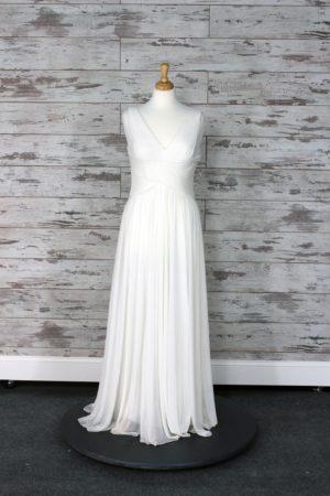 Alex Evenings Sheath Wedding Dress (Ivory)
