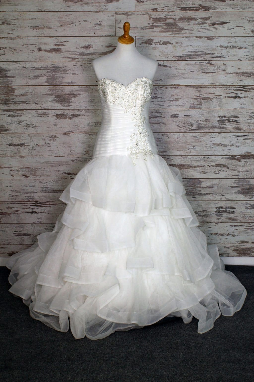 Breast cancer wedding dress