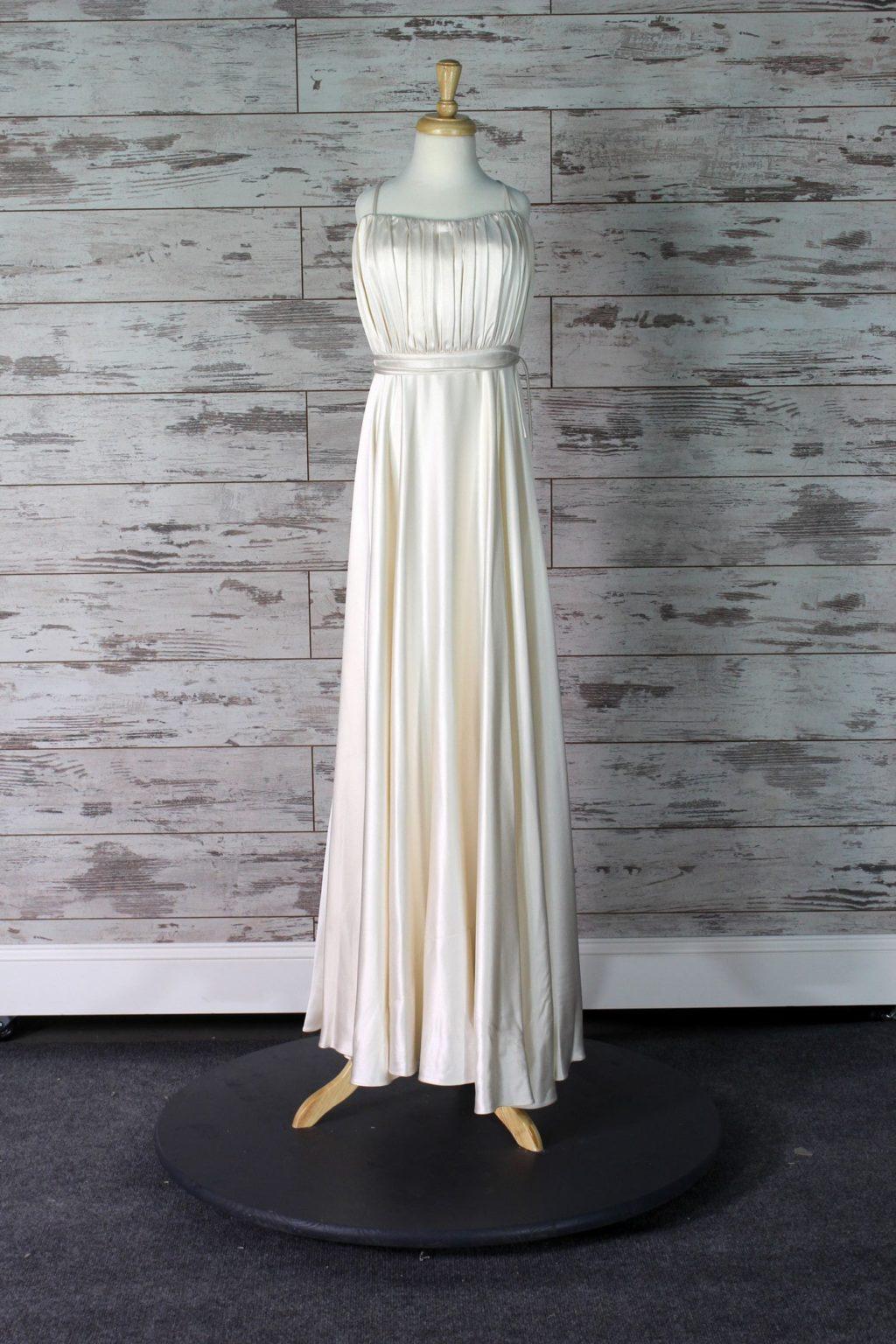 Halston Heritage Sheath Wedding Dress Cream