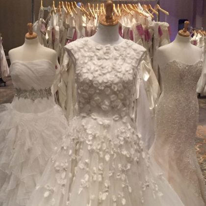 The Wedding Dress Experience displays couture gowns at 80% Off