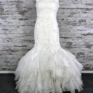 Blue Mermaid Wedding Dress (White)