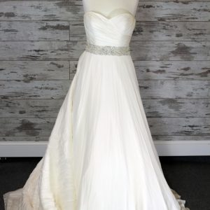 Justin Alexander A-line Wedding Dress (Ivory)
