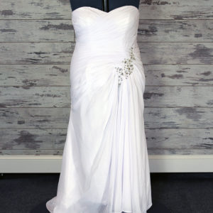 Custom Label Sheath Wedding Dress (White)